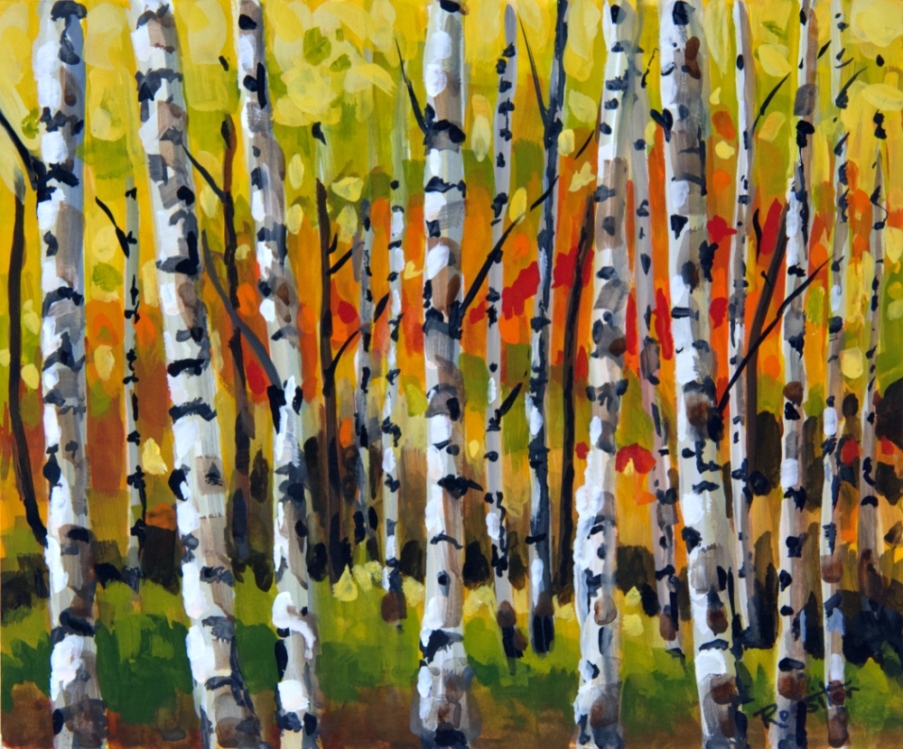 Name: Birch Trees | Location: Location unavailable | Print Size: 10 x 12 | Frame Size: No Frame | Price: $130*