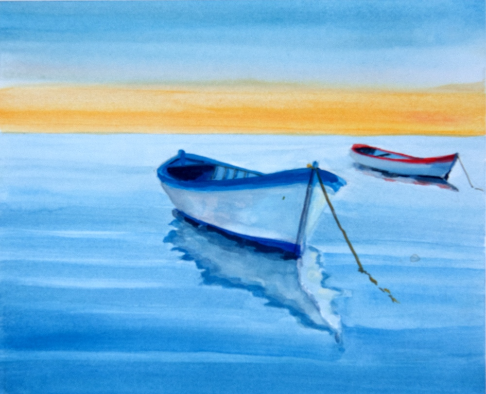 Name: Open fish boats at rest | Location: Location unavailable | Print Size: 9 x 11 | Frame Size: No Frame | Price: $130*