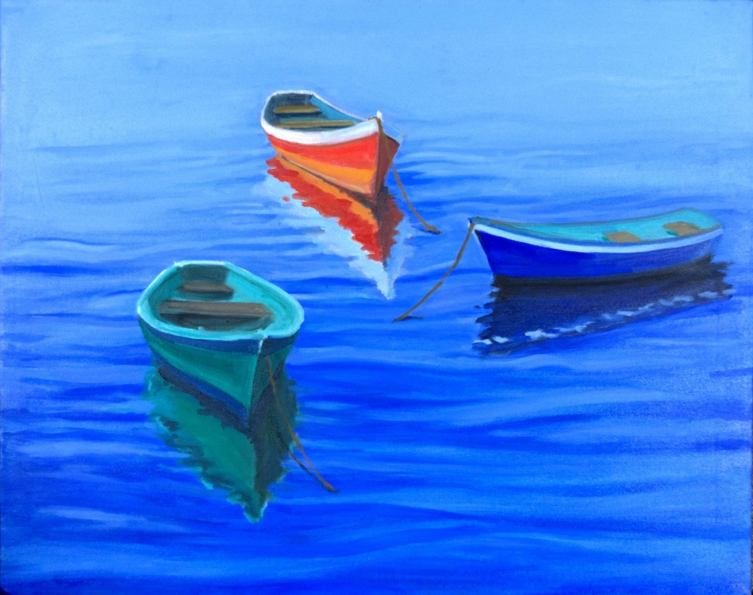 Name: Waiting to go fishing | Location: Location unavailable | Print Size: 24 x 30 | Frame Size: No Frame | Price: $300*