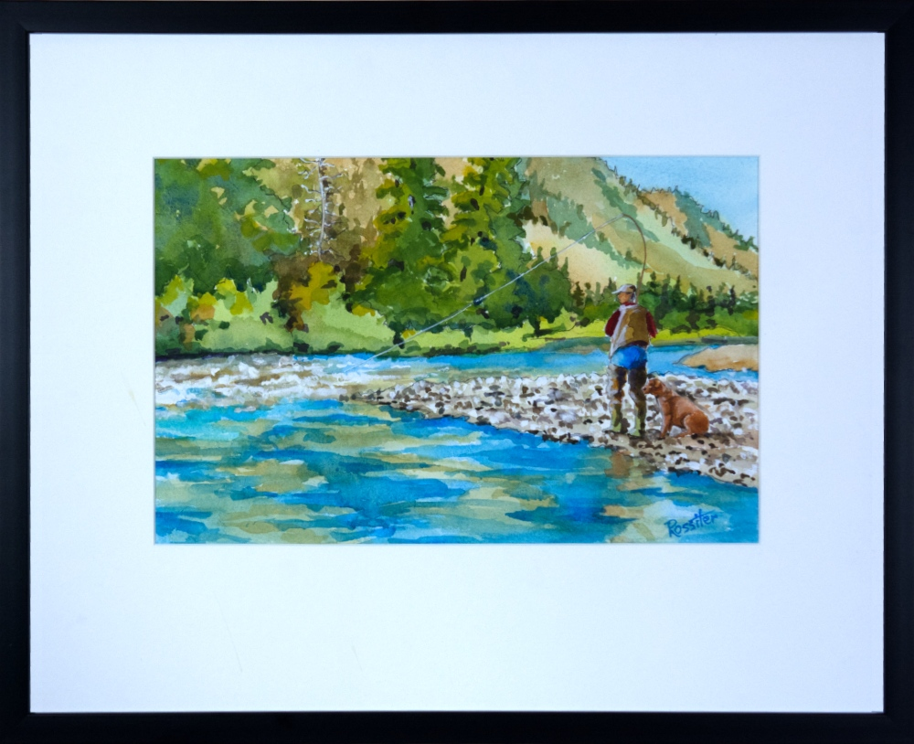 Name: Fishing with a pal | Location: Northern, BC | Print Size: 9 x 14 | Frame Size: Frame 17 x 21 | Price: $200*