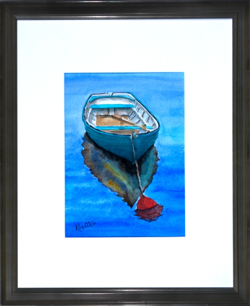 Name: Rowboat | Location: Location unavailable | Print Size: 8.5 x 11 | Frame Size: Frame 18 x 22 | Price: $200*