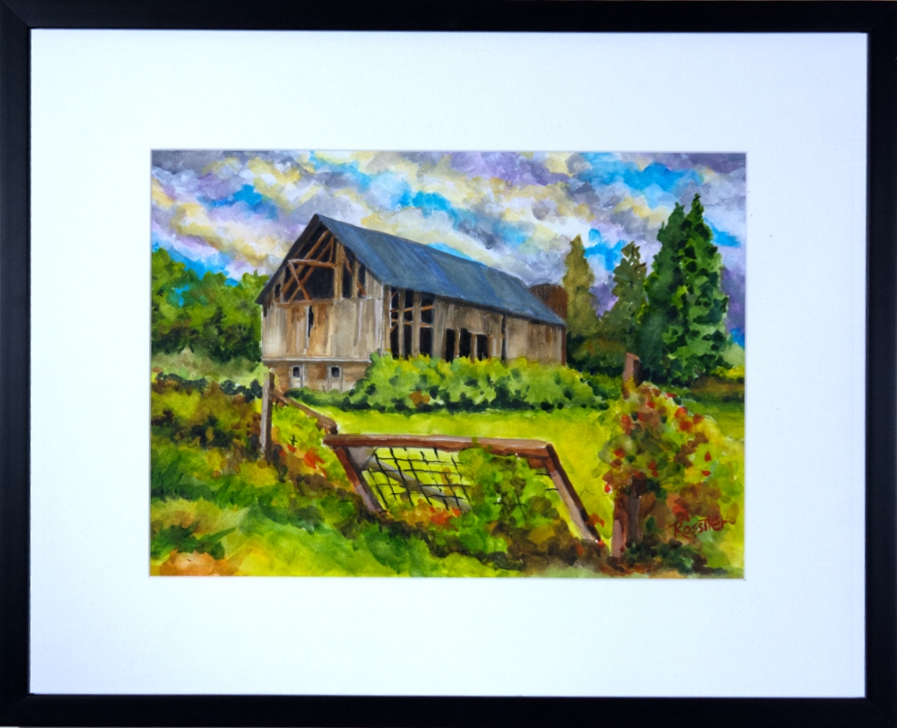 Name: Barn | Location: Unavailable | Print Size: 8.5 x 11 | Frame Size: Frame 18 x 22 | Price: $Sold