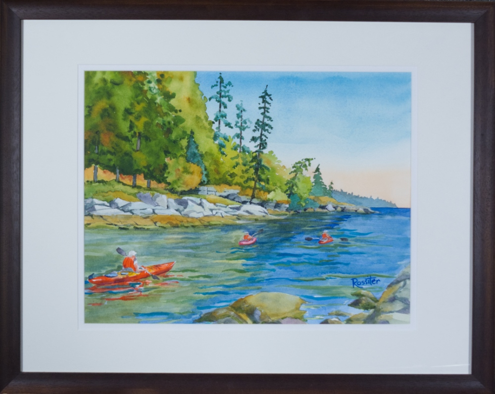 Name: Welcome Bay  | Location: Sunshine Coast, BC | Print Size: 14 x 18 | Frame Size: Frame 23 x 30 | Price: $300*
