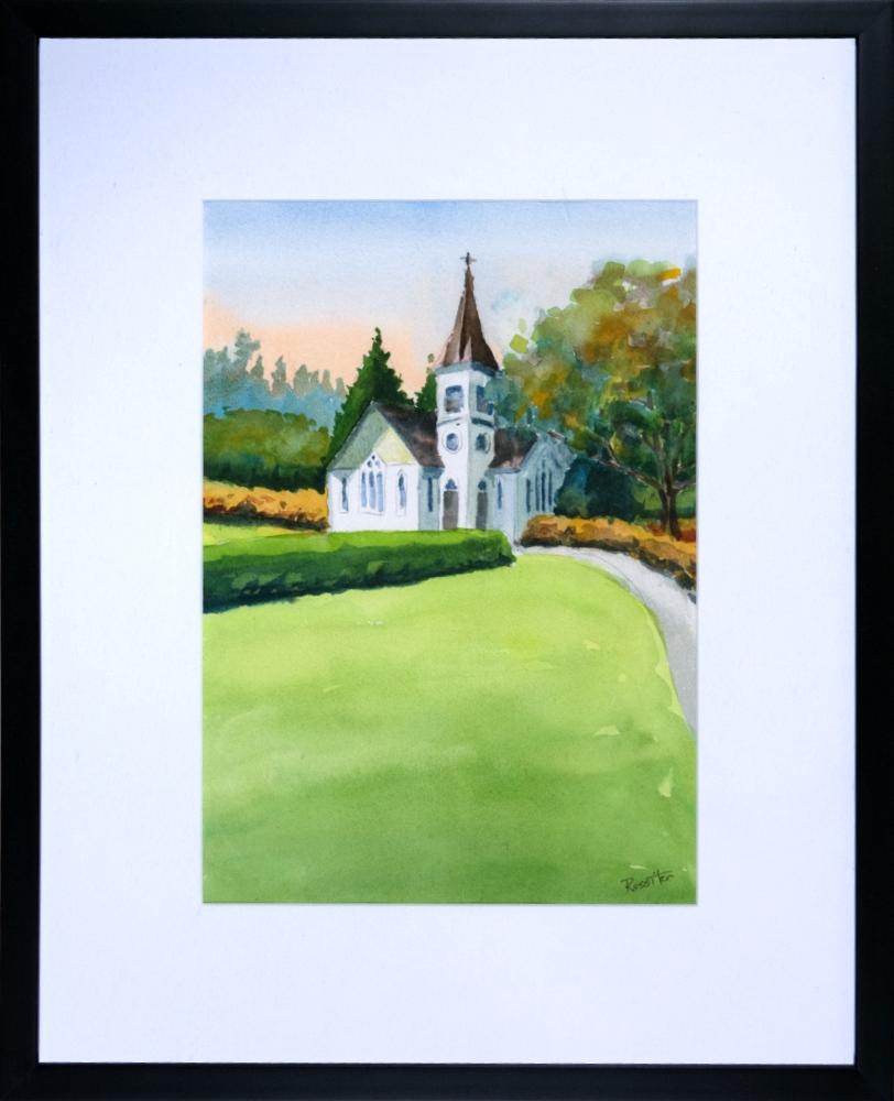 Name: Minoru Chapel | Location: Richmond, BC | Print Size: 9.5 x 13.5 | Frame Size: Frame 17 x 21 | Price: $200*