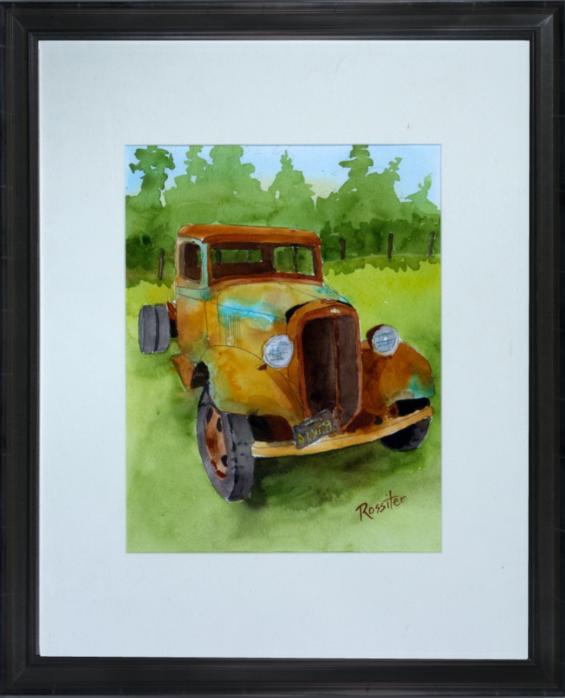 Name: Old Chev Truck | Location: Redwoods, California | Print Size: 10 x 12 | Frame Size: Frame 12 x 19 | Price: $200*