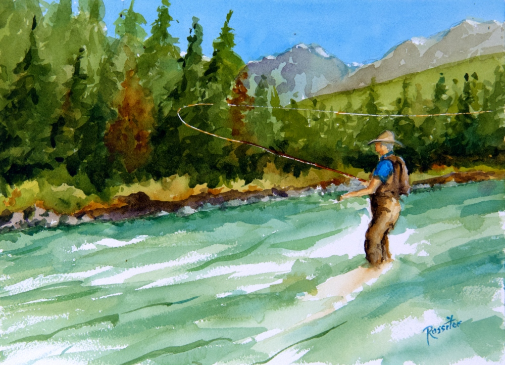 Name: Fly Fishing | Location: Location unavailable | Print Size: 10 x 14 | Frame Size: No Frame | Price: $130*