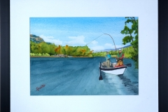 Name: Driftboat Fishing | Location: Northern, BC | Print Size: 10 x 14 | Frame Size: Frame 18 x 22 | Price: $200*