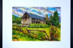 Name: Barn | Location: Unavailable | Print Size: 8.5 x 11 | Frame Size: Frame 18 x 22 | Price: SOLD