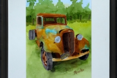 Name: Old Chev Truck | Location: Redwoods, California | Print Size: 10 x 12 | Frame Size: Frame 12 x 19 | Price: $200*