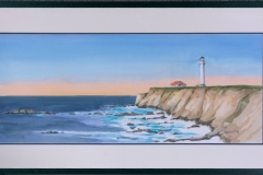Name: Point Arena Lighthouse | Location: Mendocino County, California | Print Size: 12 x 30 | Frame Size: Frame 36 x 19 | Price: $400*