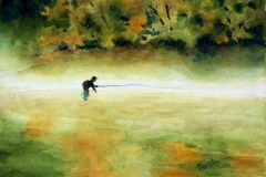 Name: Fisherman in the mist | Location: Location unavailable | Print Size: 10 x 14 | Frame Size: No Frame | Price: $130*