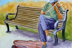 Name: Busker | Location:  Fairhaven, Wash | Print Size: 10 x 14 | Frame Size: No Frame | Price: $130*