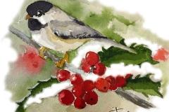 Winter Chickadee  | SOLD